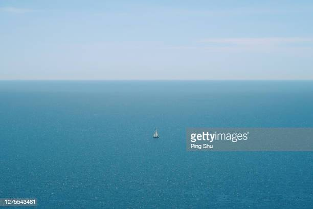 navigation - horizon over water stock pictures, royalty-free photos & images