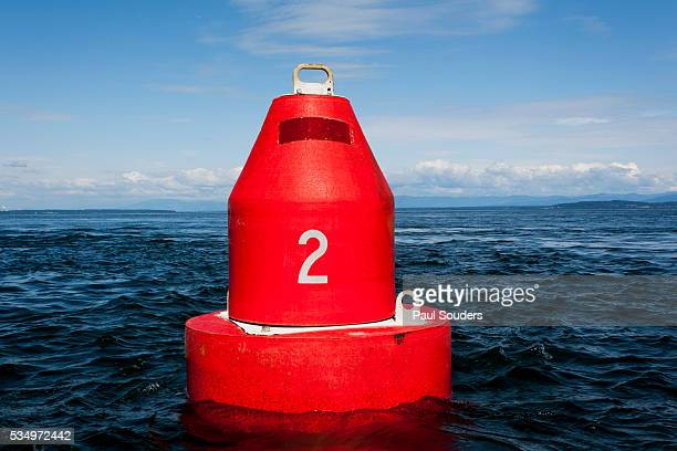 navigational buoy, british columbia, canada - buoy stock photos and pictures