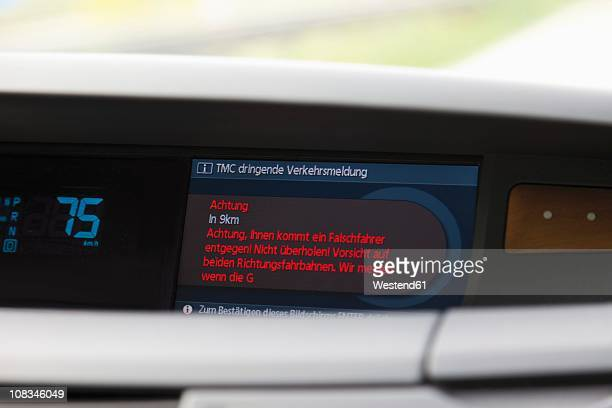 Navigator digital display of car, close up