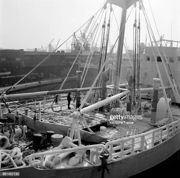 Navire dans le port de Marseille France en 1955