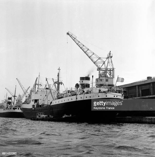 Navires dans le port de Marseille France en 1955