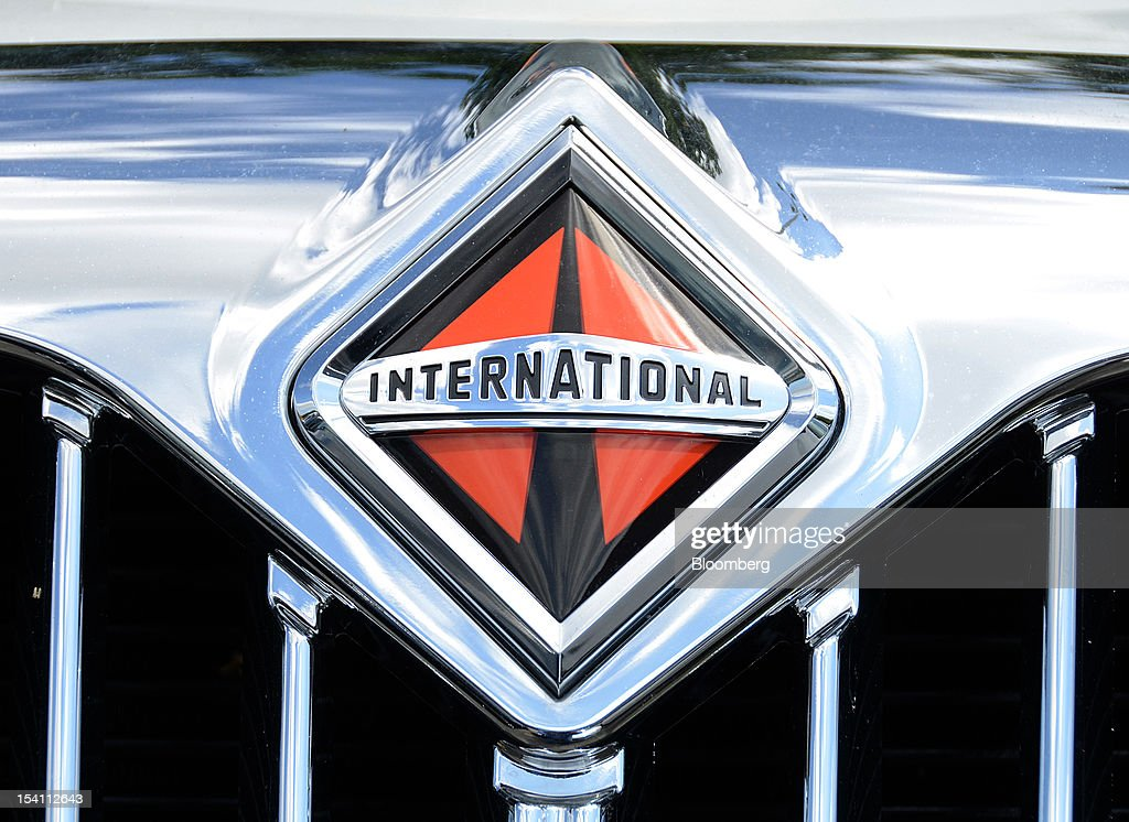 A Navistar Inc. International Truck logo is displayed on a DuraStar truck at Rechtien International Trucks Inc., in Miami, Florida, U.S. on Friday, Oct. 12, 2012. The U.S. Census Bureau is scheduled to release business inventories figures on Oct. 15. Photographer: Mark Elias/Bloomberg via Getty Images