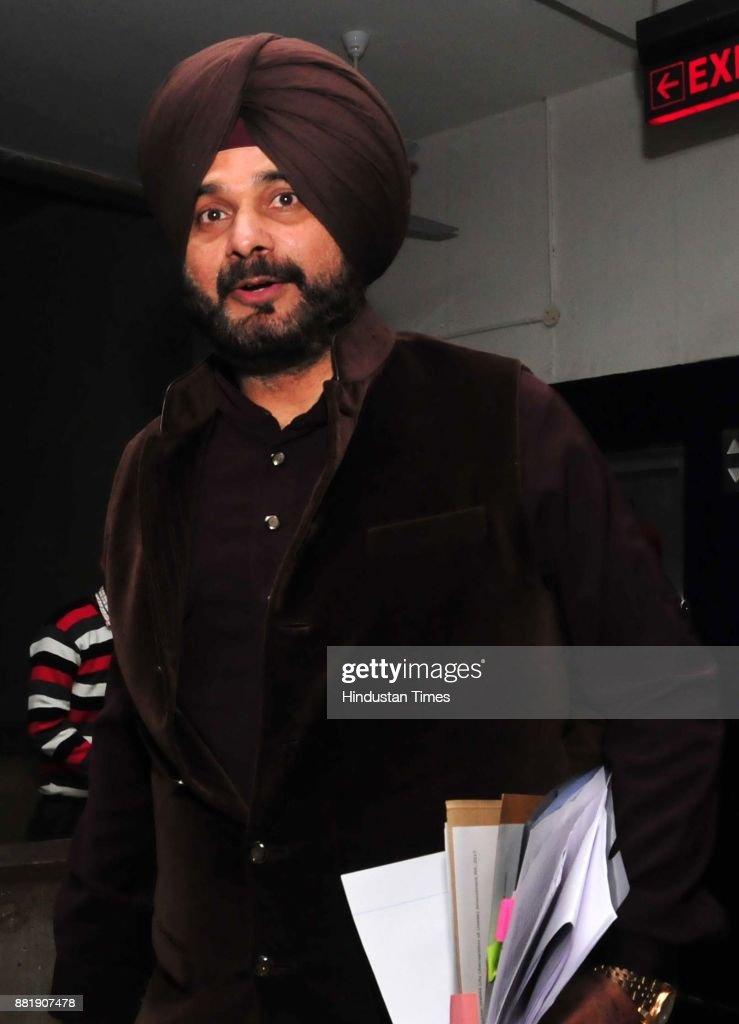 Navjot Singh Sidhu at Punjab Vidhan Sabha session on November 29 2017 in Chandigarh India