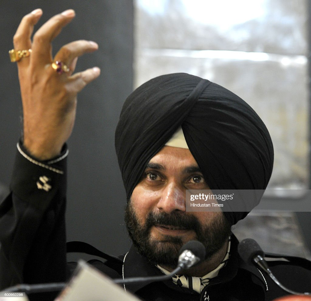 Navjot Singh Sidhu during a press conference at Chandigarh Press Club in sector 27 on September 8 2016 in Chandigarh India