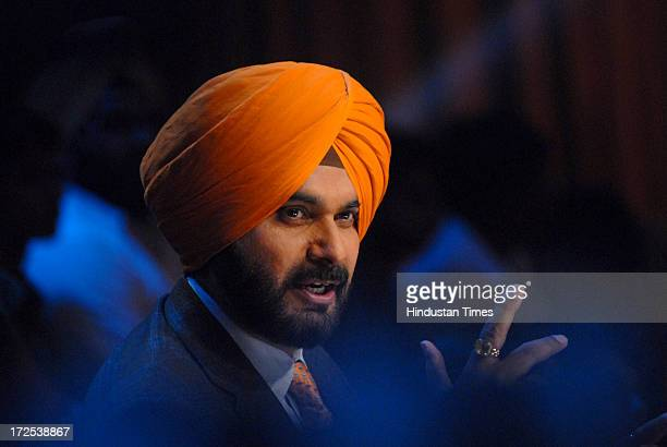 Navjot Singh Sidhu former Indian cricketer and Member of Parliament from Amritsar during the promotion of film Chennai Express on the sets of Colors...