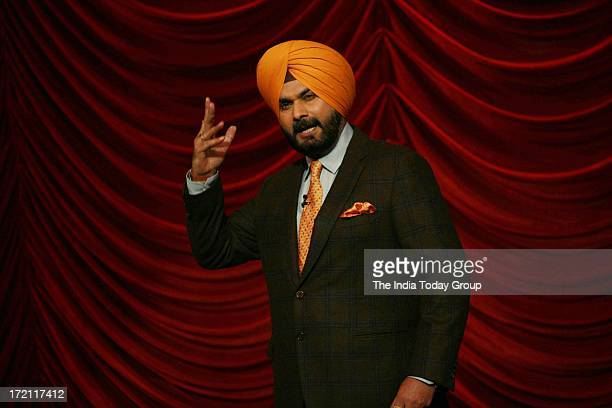 Navjot Singh Sidhu on the sets of Comedy Nights with Kapil in Mumbai