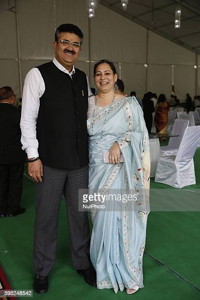 Navneet Sehgal Chief Secratrary of Information Uttar Pradesh with his wife attends in 3 days IAS week Summit 2016 in Lucknow on March 202016