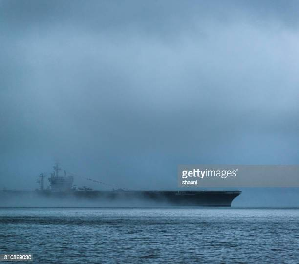 us navy aircraft carrier - military ship stock pictures, royalty-free photos & images