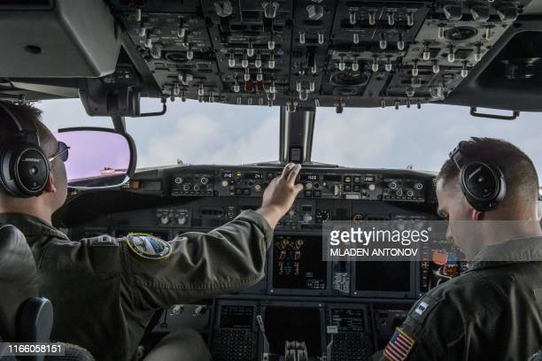 US Navy aircrew pilot the P8A Poseidon maritime patrol and reconnaissance aircraft during the US and Association of Southeast Asian Nations maritime...