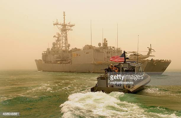 us navy anti piracy ops in arabian gulf - us navy stock pictures, royalty-free photos & images