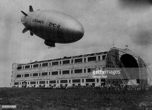 Navy Aviation Dirigibles Blimp The Denver Post First in Everything A New Bird for the Navy The new navy allmetal dirigible ZMC2 landing at Lakehurst...
