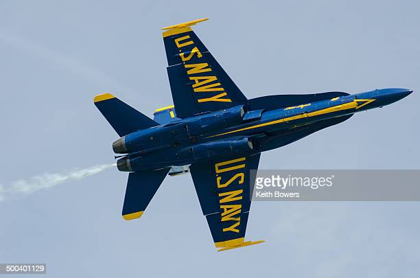 Navy Blue Angel aircraft at Chicago air show