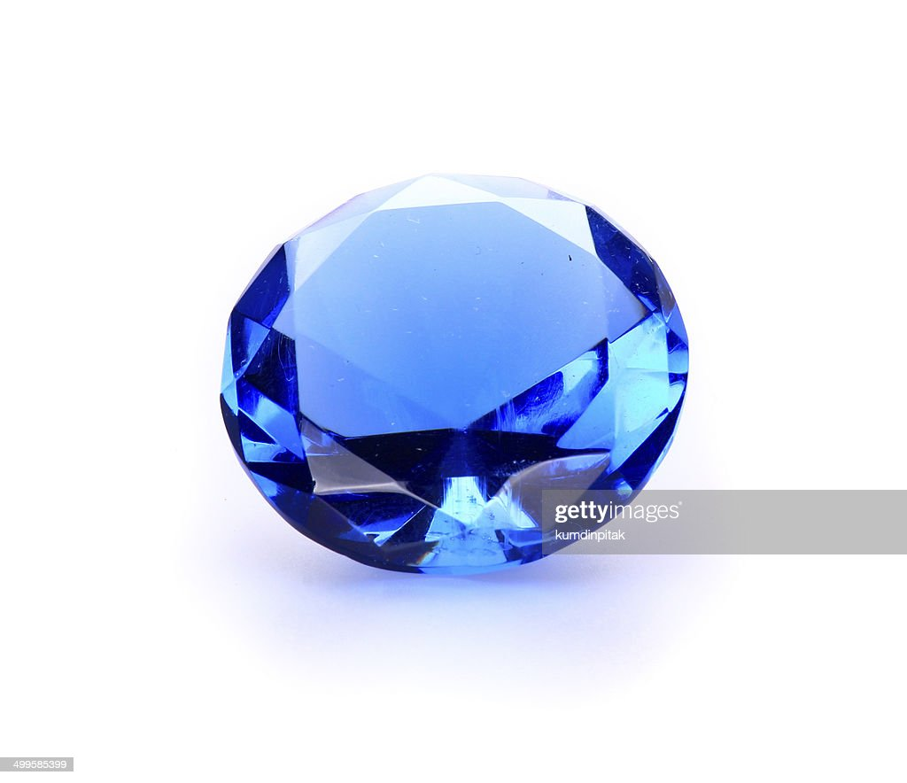Navy blue Gem stone : Stock Photo