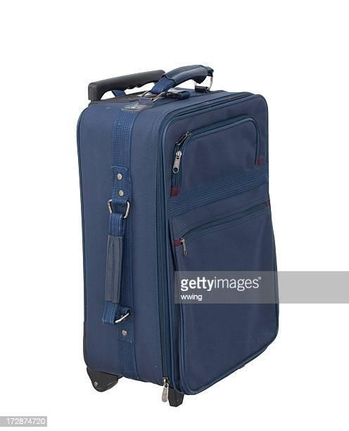 Navy Blue Luggage on White Background