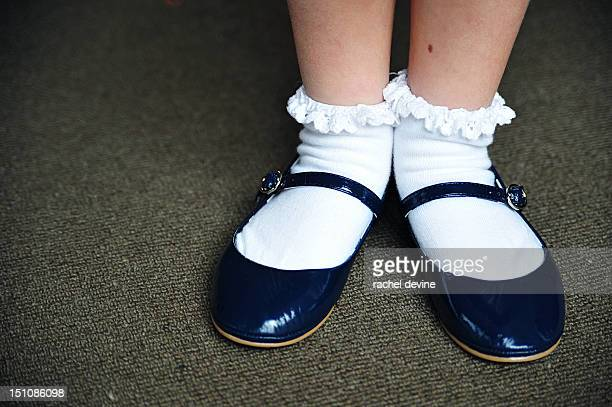 Navy blue party shoes