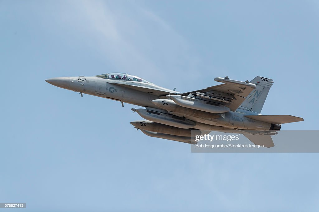 a us navy ea18g growler takes off from nellis air force base nevada