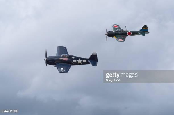 U.S. Navy F6F Hellcat 6M3 Japanese Zero Airshow 2016 Oregon