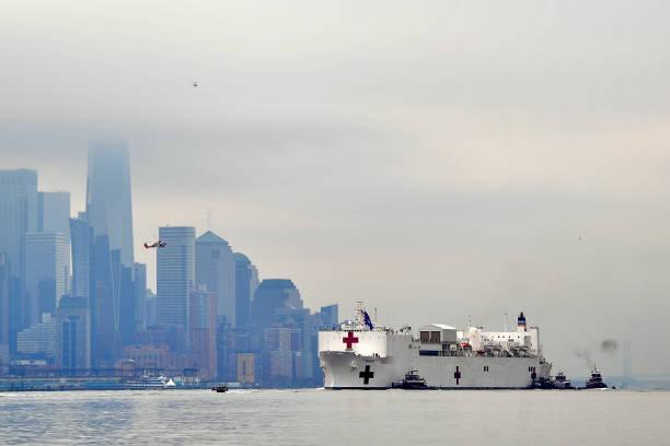USA: Hospital Ship USNS Comfort Arrives In New York As Coronavirus Overwhelms Medical Infrastructure