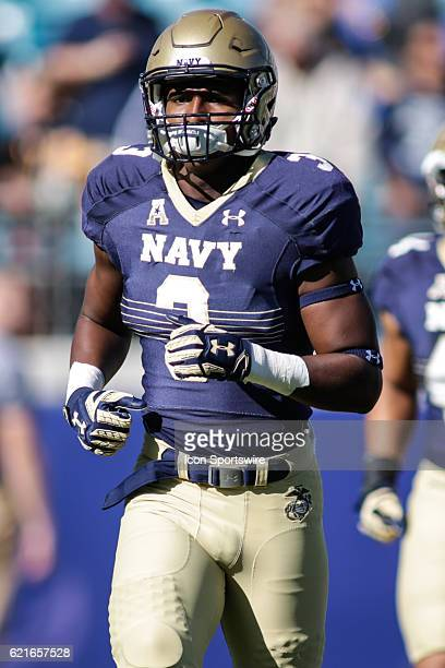 Navy Midshipmen linebacker Brandon Jones during the game between the Notre Dame Fighting Irish and the Navy Midshipmen on November 5 at EverBank...