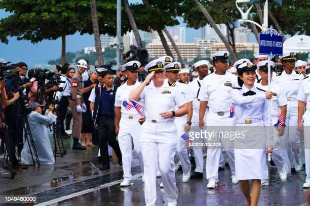 UNS Marine Offiziere in Pattaya
