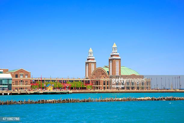 navy pier auditorium, chicago - navy pier stock pictures, royalty-free photos & images