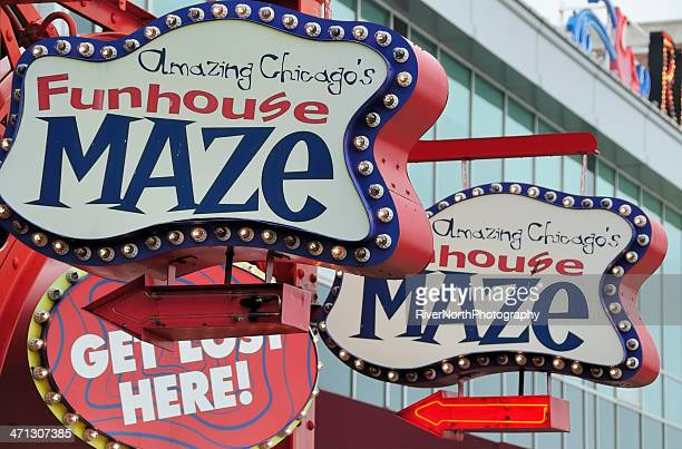navy pier, chicago - fun house stock pictures, royalty-free photos & images