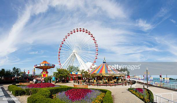 navy pier - stock image - navy pier stock pictures, royalty-free photos & images
