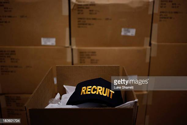Navy recruit ball cap is pictured at Navy Basic Training For the next three months at basic training on April 8 2013 in Great Lakes Illinois Naval...