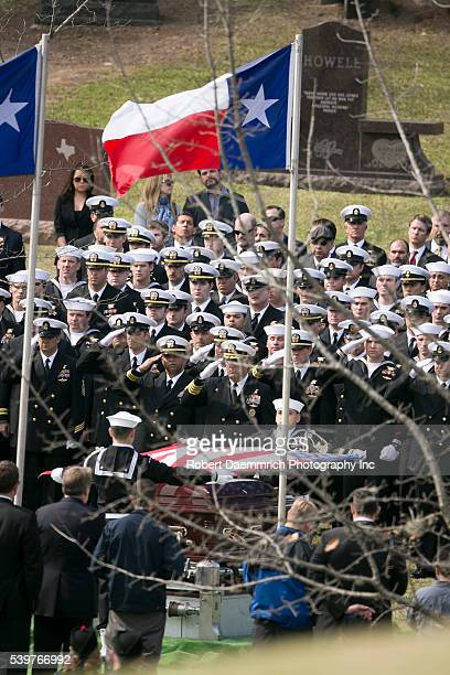 Navy SEAL Chris Kyle is laid to rest at the Texas State Cemetery as the sniper credited with over 150 kills in Iraq and Afghanistan is buried Tuesday...
