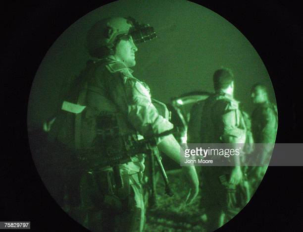 S Navy SEALS await a night mission to capture Iraqi insurgent leaders July 27 2007 near Fallujah Iraq American Special Forces operate throughout Iraq...