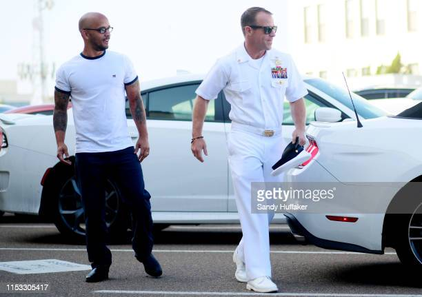 Navy Special Operations Chief Edward Gallagher walks into military court on July 2 2019 in San Diego California Jury deliberations begin today for...