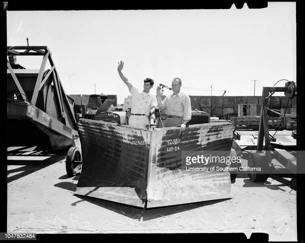 Navy surplus auction at Port Hueneme May 4 1954 Lieutenant Junior Grade RH StulheitCommander AA PabstRichard G BrownFrank WisdomBrother WilburBrother...