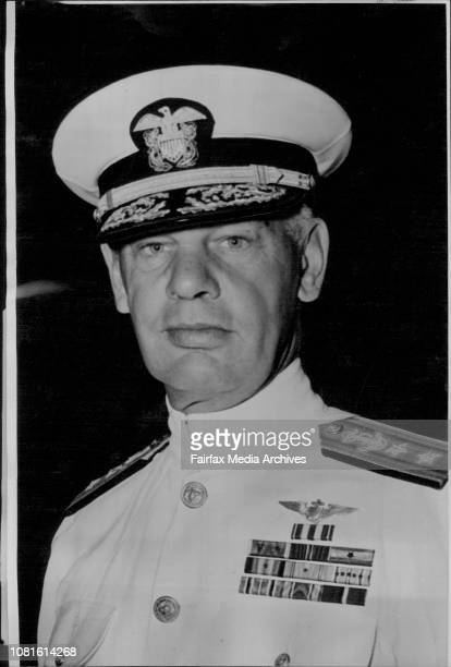 US Navy Task Force 38 arrivals in Sydney on cruise RearAdmiral HM Martin USN Commanding the visiting Force January 30 1948