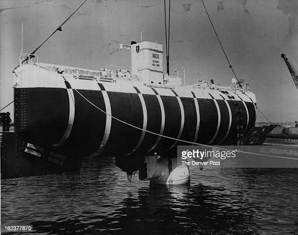 Navy Vessels * Bathyscaphe; Screen News Digest trains its cameras on the bathyscaph Trieste in a fascinating film feature on man's conquest of the...