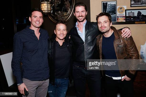 Navy veteran Andrew Bensch, actor Travis Aaron Wade, Operation Heal Our Heroes CEO and co-founder Everett Weston and actor Sebastian Stan attend the...