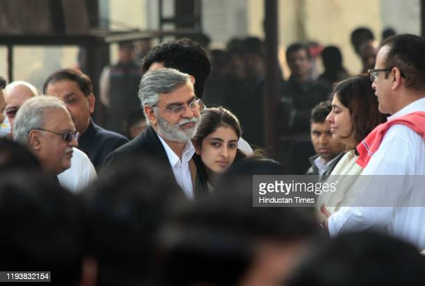 Navya Naveli Nanda at the funeral of Ritu Nanda at Lodhi Road Crematorium on January 14 2020 in New Delhi India Ritu Nanda daughter of the yesteryear...