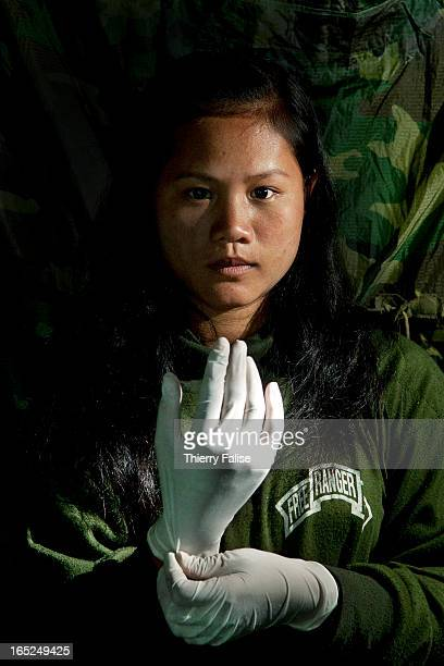 Naw Pel Htoo 19 an ethnic PaO nurse volunteering for the Free Burma Rangers