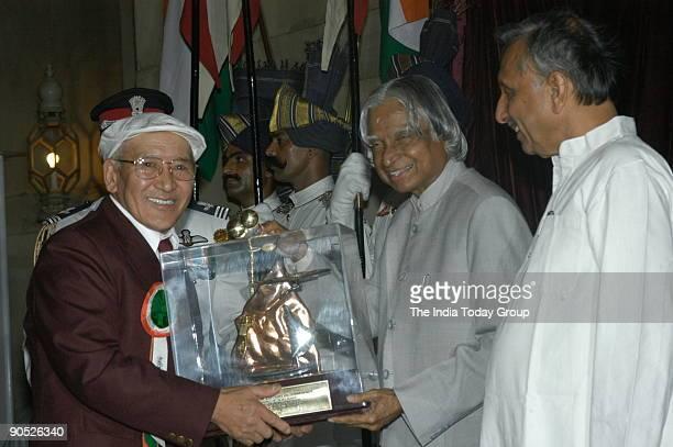 Nawang Gombu Receiving the Tenzing Norgay National Adventure Award from APJ Abdul Kalam President of India at Sports and Adventure Awards2005...