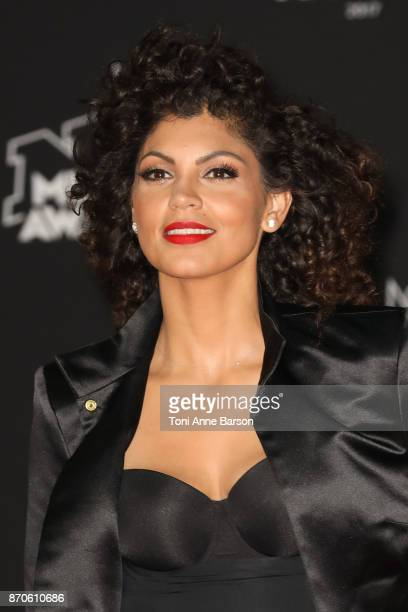 Nawell Madani arrives at the 19th NRJ Music Awards ceremony at the Palais des Festivals on November 4 2017 in Cannes France
