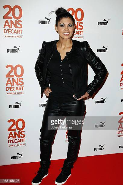 Nawell Madani attends '20 Ans D'Ecart' Premiere at Gaumont Capucines on March 5 2013 in Paris France