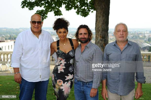 Nawell Madani Ludovic ColbeauJustin and Francois Berleand attend the 10th Angouleme FrenchSpeaking Film Festival on August 27 2017 in Angouleme France