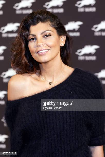 Nawell Madani poses during photocall of the 32nd Namur International FrenchLanguage Film on October 3 2017 in Namur Belgium