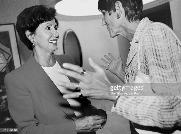 na/whip2 DATE 9/5/2001 PHOTOG Sarah L Voisin Rep Nancy Pelosi during a party at her DC home The party is to celebrate the 100 endorsements Pelosi has...