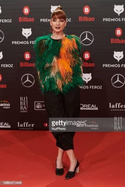 Nawja Nimri attends the Feroz Awards 2019 Red Carpet at Bilbao Arena in Bilbao Spain on Jan 19 2019