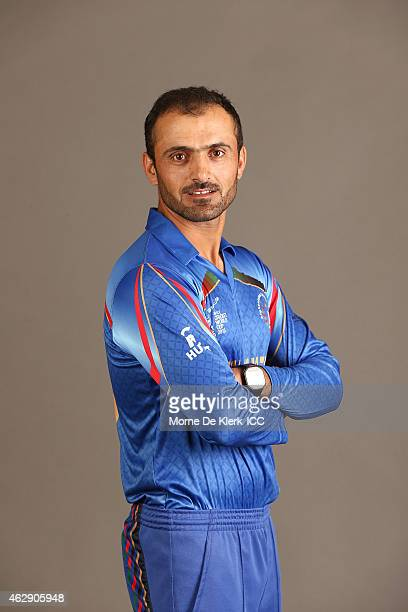 Nawroz Mangal poses during the Afghanistan 2015 ICC Cricket World Cup Headshots Session at the Intercontinental on February 7 2015 in Adelaide...