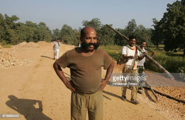 Naxals Menace in Dantewada District police officers patrolling the naxal infested forests at near Dantewada