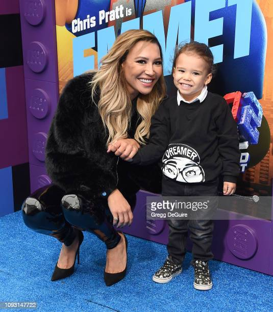 Naya Rivera and Josey Hollis attend the premiere of Warner Bros Pictures' The Lego Movie 2 The Second Part at Regency Village Theatre on February 2...