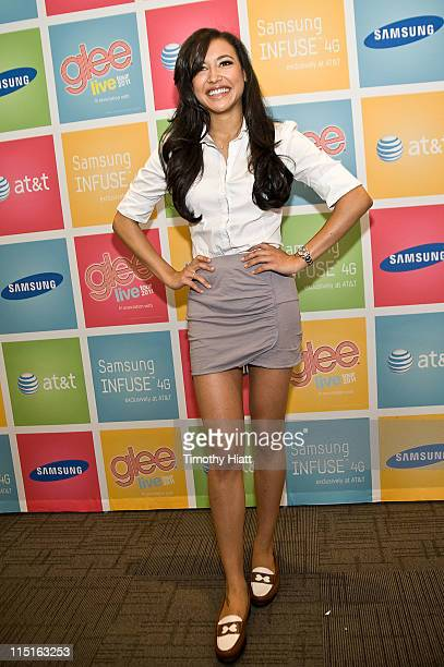 Naya Rivera attends the Glee Live Samsung Infuse 4G for ATT Chicago retail event at the ATT Store on June 3 2011 in Skokie Illinois