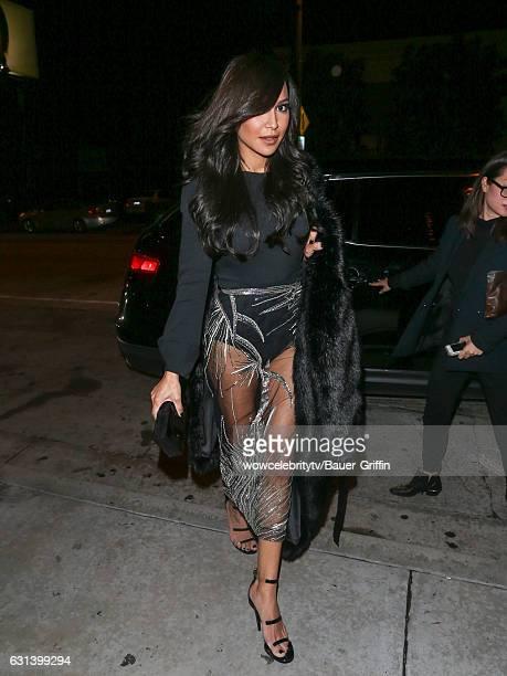 Naya Rivera is seen on January 09 2017 in Los Angeles California
