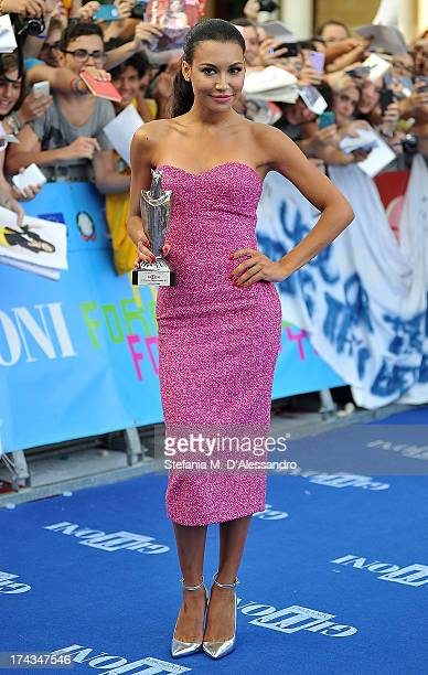Naya Rivera poses with the Giffoni Award during 2013 Giffoni Film Festival on July 24 2013 in Giffoni Valle Piana Italy